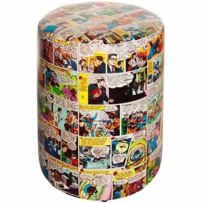 Puff Dc Comics Quadrinhos Colorido 45x35cm