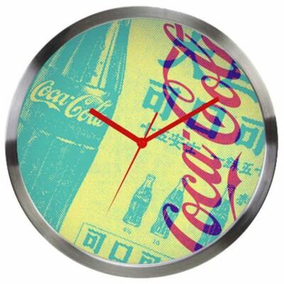 Relógio De Parede Coca-cola Newspaper Metal
