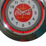 Relógio De Parede Coca-cola Single Neon Prata