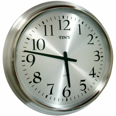 Relógio De Parede Yins Pw125-17 Alumínio 50cm