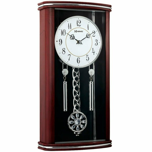 Relógio Parede Grande Herweg Clássico Pêndulo 6391-084