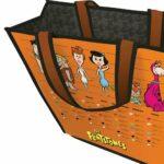 Sacola Flintstones Family Laranja 40x40cm
