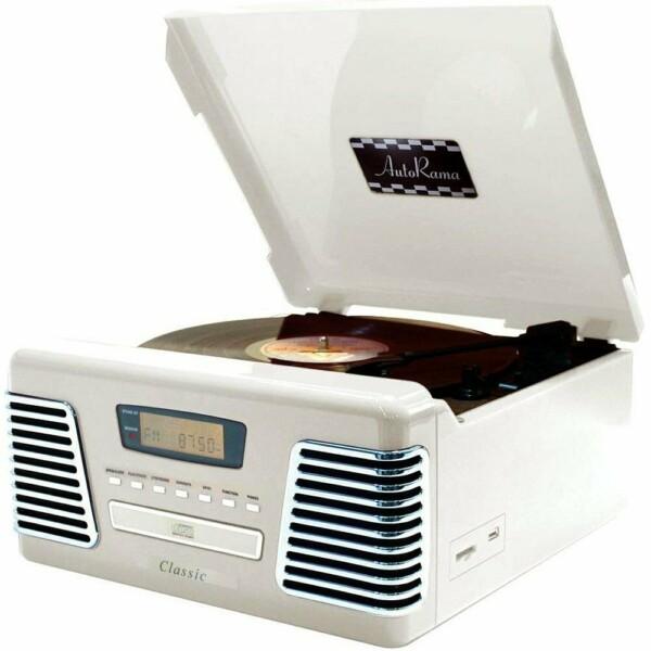 Toca Discos Classic Autorama Branco 31770