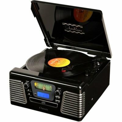 Toca Discos Classic Autorama Preto 33836