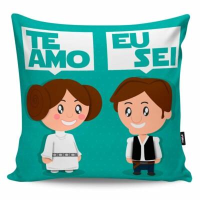 Almofada Namorados Princesa Leia E Han Solo