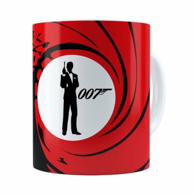 Caneca 007 James Bond V01 Branca