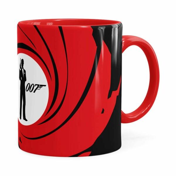 Caneca 007 James Bond V01 Vermelha