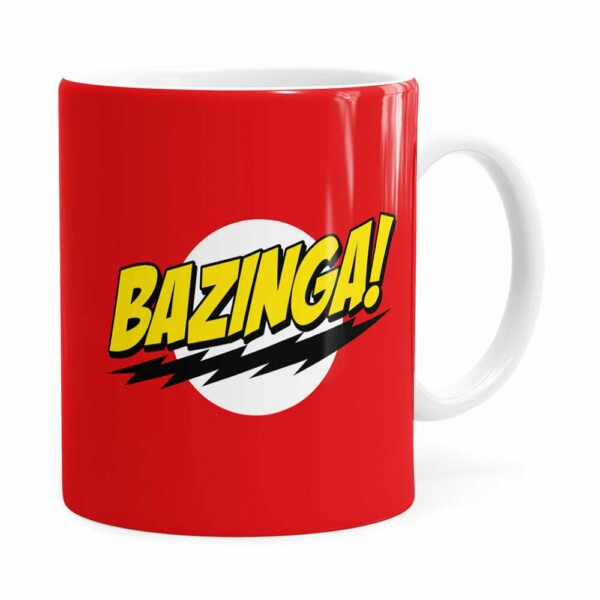 Caneca Bazinga! The Big Bang Theory Branca