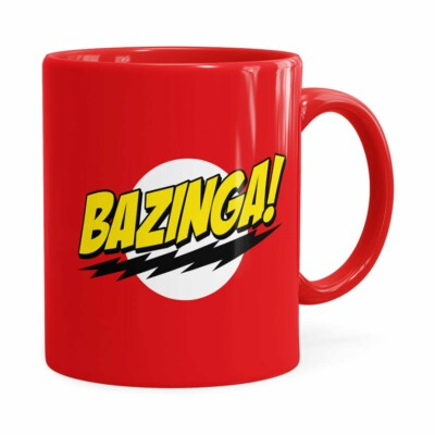 Caneca Bazinga! The Big Bang Theory Vermelha