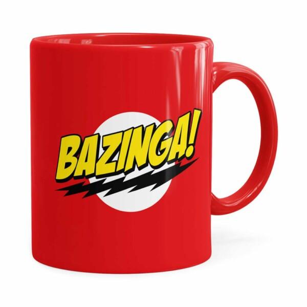 Caneca Bazinga! The Big Bang Theory Vermelha