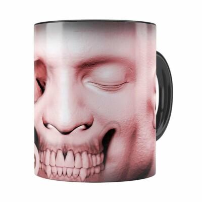 Caneca Cabeça De Zombie V03 Preta