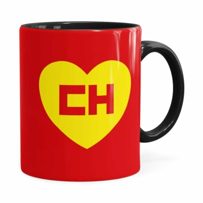 Caneca Chapolin Colorado Logo Preta