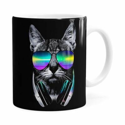 Caneca Deejay Cat V01 Branca
