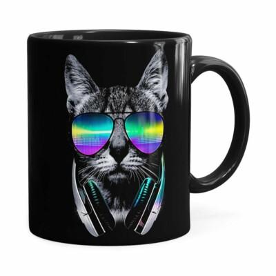 Caneca Deejay Cat V01 Preta