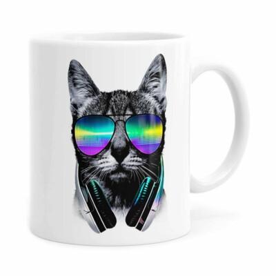 Caneca Deejay Cat V02 Branca