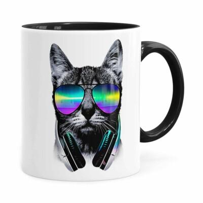 Caneca Deejay Cat V02 Preta