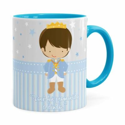 Caneca Dindo Principe Cute Azul Claro