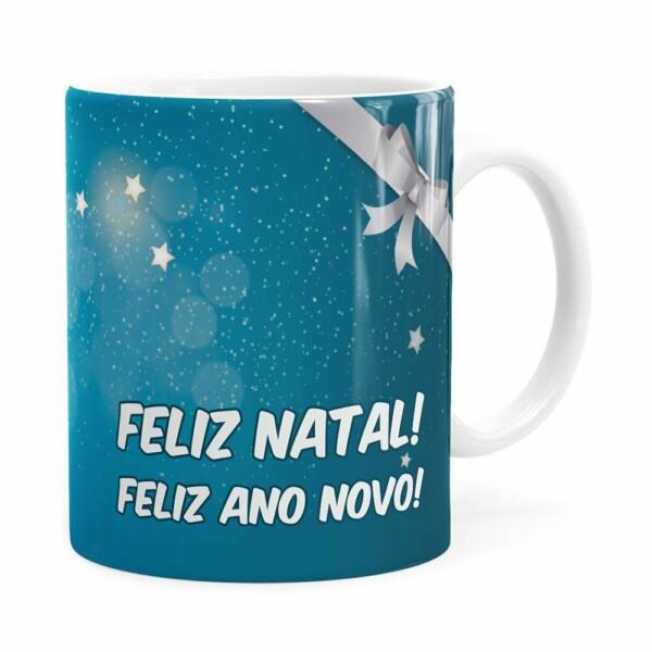 Caneca Feliz Natal Feliz Natal Feliz Ano Novo V03 Branca V03 Branca