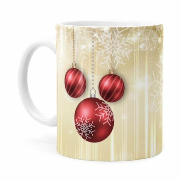 Caneca Feliz Natal V01 Branca