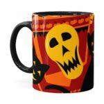 Caneca Halloween Dia Das Bruxas V04 Preta