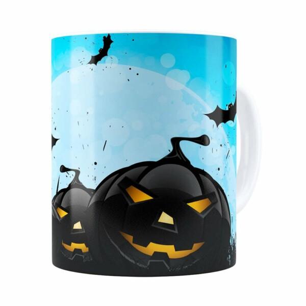 Caneca Halloween Dia Das Bruxas V05 Branca