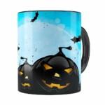 Caneca Halloween Dia Das Bruxas V05 Preta