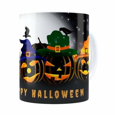 Caneca Halloween Dia Das Bruxas V06 Branca