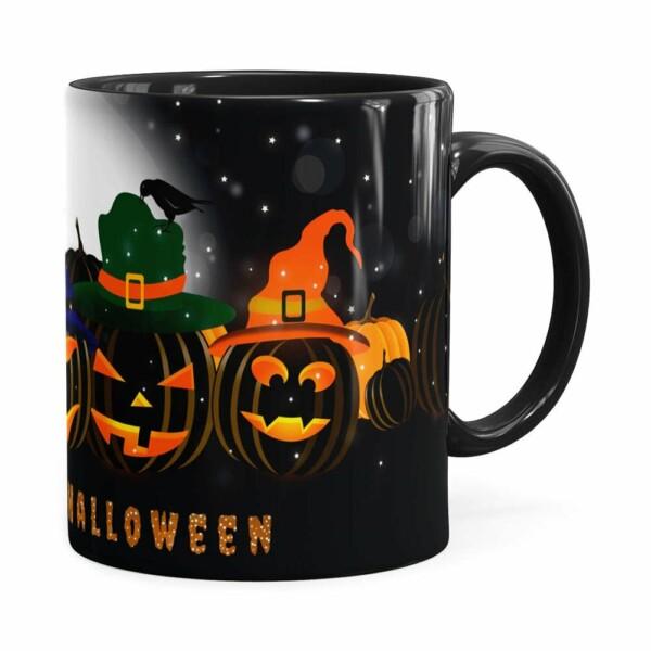 Caneca Halloween Dia Das Bruxas V06 Preta