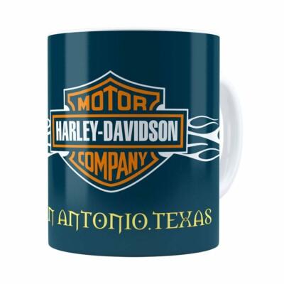 Caneca Harley Davidson San Antonio Texas Branca