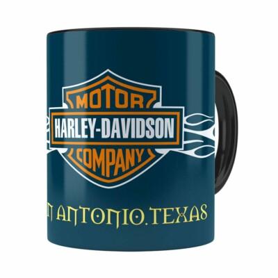 Caneca Harley Davidson San Antonio Texas Preta