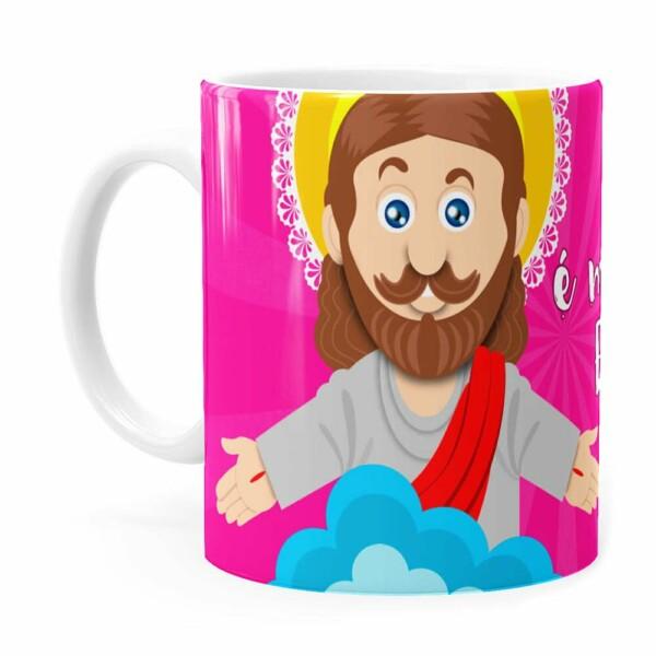 Caneca Jesus Senhor é Meu Pastor V02 Branca