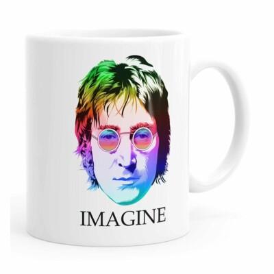 Caneca John Lennon Imagine Cores Branca