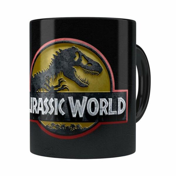 Caneca Jurassic World V01 Preta