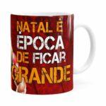 Caneca Natal Fitness Época De Ficar Grande V01 Branca