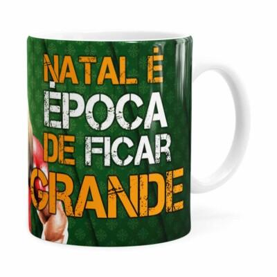 Caneca Natal Fitness Época De Ficar Grande V02 Branca