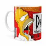 Caneca Natal Homer Simpson Duff Beer Branca