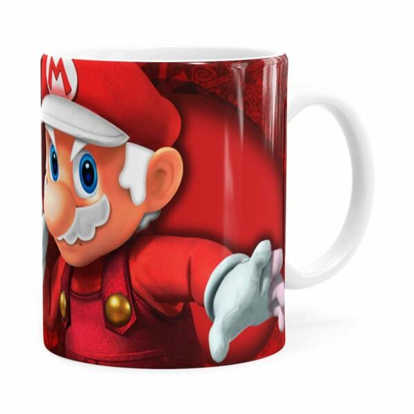 Caneca Natal Mario Bros Its Me Mario Noel V01 Branca