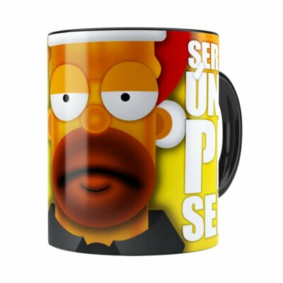 Caneca Natal Os Simpsons Homer Será Seu Único Presente Preta