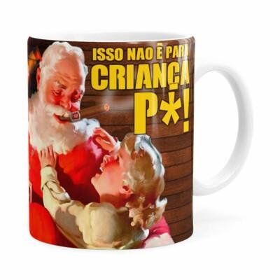 Caneca Natal Skol Com Refri Aqui Não V01 Branca