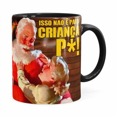 Caneca Natal Skol Com Refri Aqui Não V01 Preta