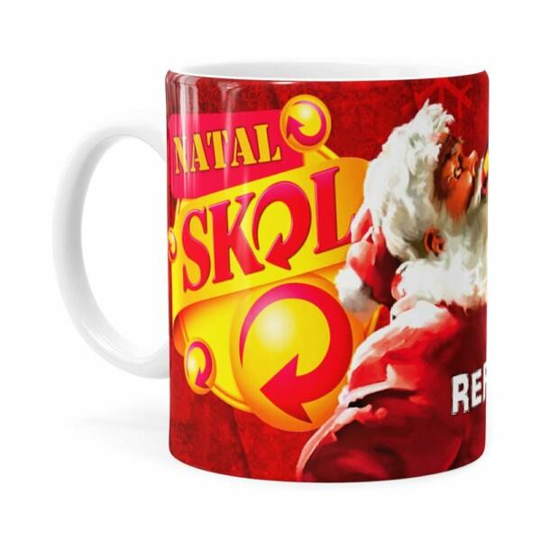 Caneca Natal Skol V01 Branca