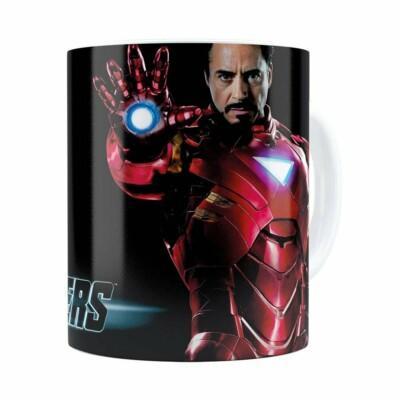 Caneca Os Vingadores Iron Man Branca