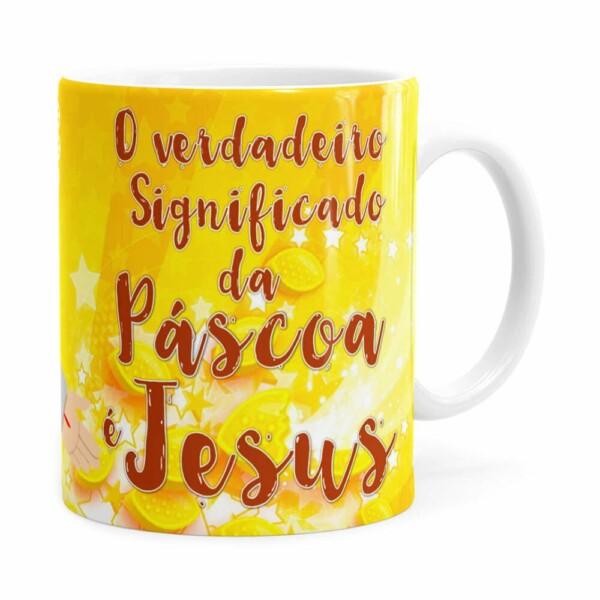 Caneca Páscoa Verdadeiro Significado é Jesus V02 Branca