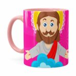 Caneca Páscoa Verdadeiro Significado é Jesus V03 Rosa