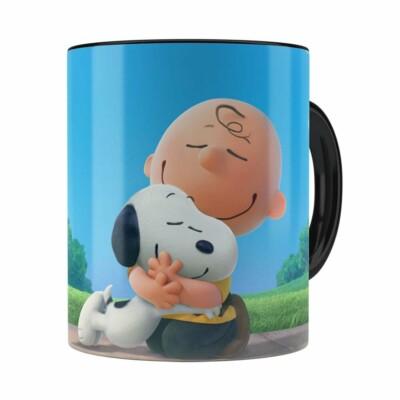 Caneca Peanuts Snoopy E Charlie Brown Preta