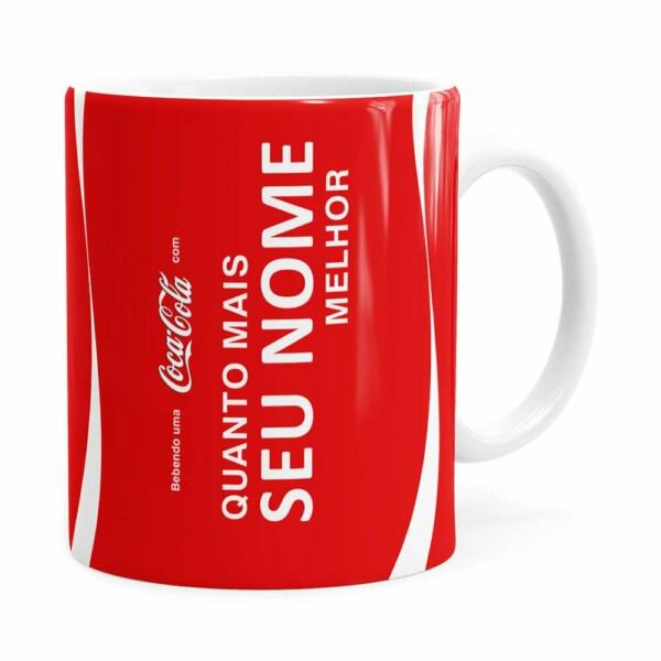 Caneca Personalizada Coca-cola Quanto Mais Branca