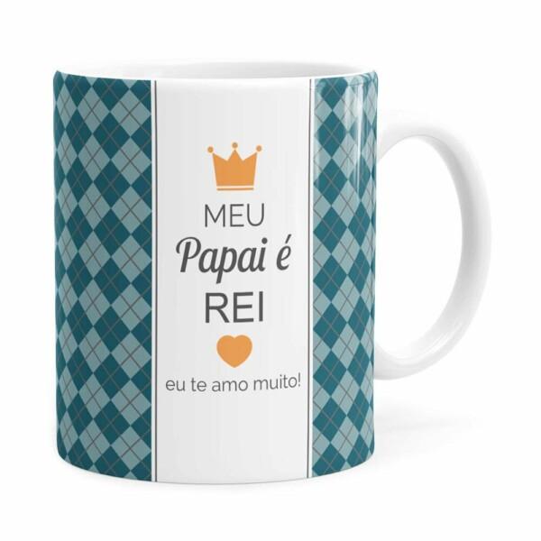 Caneca Personalizada Papai é Rei Com Foto Branca