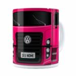 Caneca Personalizada Truck Pink V02 Com Nome Branca
