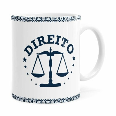 Caneca Profissões Advogado V01 Branca