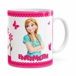 Caneca Profissões Enfermagem Frozen Anna Branca
